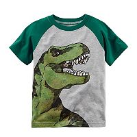 Baby Boy Carter's Watercolor Dinosaur Raglan Graphic Tee