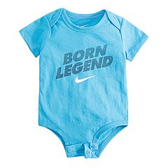 Baby Boy Nike 'Born Legend' Logo Bodysuit