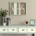 "Stratton Home Decor ""Family"" Farmhouse Wall Decor"