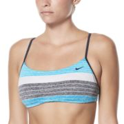 Women's Nike Striped Reversible Bikini Top