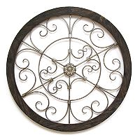 Stratton Home Decor Round Metal Wall Decor