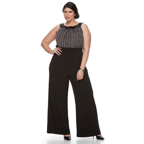 Plus Size Chaya Embellished Sleeveless Jumpsuit