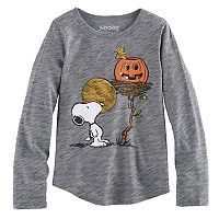 Girls 4-10 Jumping Beans® Peanuts Snoopy & Woodstock Harvest Moon Tee
