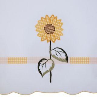 Achim Sun Blossoms Tier & Valance Kitchen Window Curtain Set