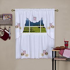 Achim Fast Food Tier & Swag Kitchen Curtain Set