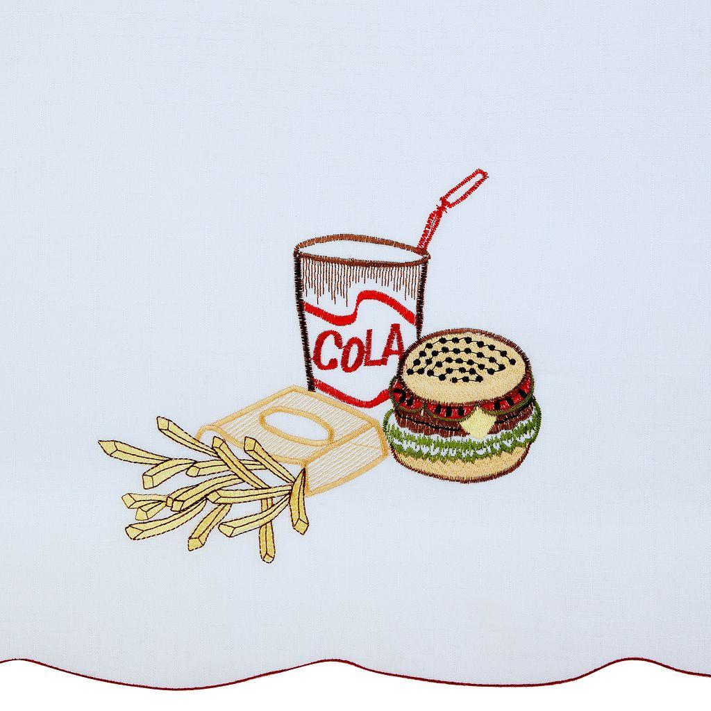 Achim Fast Food Tier & Swag Kitchen Curtain Set