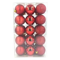 St. Nicholas Square® Shatterproof Ball Christmas Ornaments 30 pc Set
