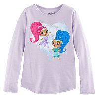 Girls 4-10 Jumping Beans® Shimmer & Shine Heart Tee