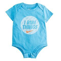 Baby Boy Nike 'I Run Things' Logo Bodysuit