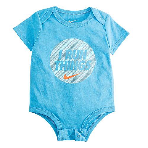 "Baby Boy Nike ""I Run Things"" Logo Bodysuit"