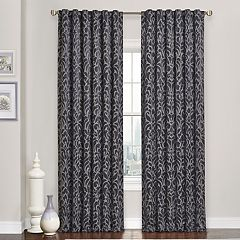 eclipse Blackout 1-Panel Carven Window Curtain