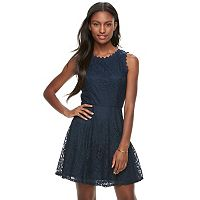 Juniors' Lily Rose Lace Skater Dress