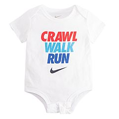Baby Boy Nike 'Crawl Walk Run' Logo Bodysuit