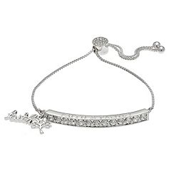 Brilliance 'Faith & Family' Bolo Bracelet with Swarovski Crystals