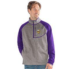 Men's Minnesota Vikings Mountain Trail Pullover Fleece Jacket