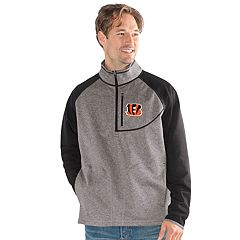 Men's Cincinnati Bengals Mountain Trail Pullover Fleece Jacket