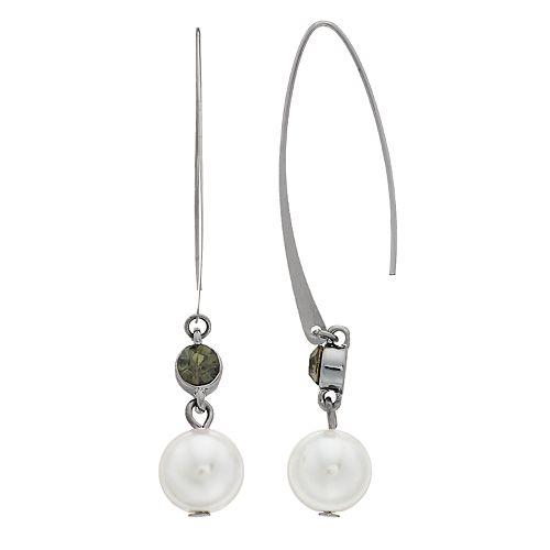 Simply Vera Vera Wang Simulated Pearl Threader Earrings