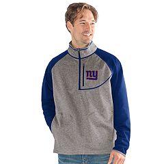 Men's New York Giants Mountain Trail Pullover Fleece Jacket