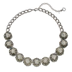 Simply Vera Vera Wang Gray Simulated Crystal Statement Necklace