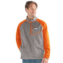 Men's Denver Broncos Mountain Trail Pullover Fleece Jacket