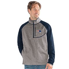 Men's New England Patriots Mountain Trail Pullover Fleece Jacket