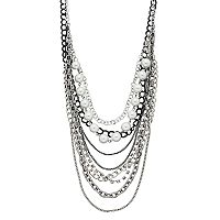 Simply Vera Vera Wang Two Tone Simulated Pearl Multi Strand Necklace