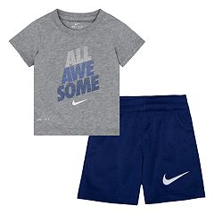 Baby Boy Nike 'All Awesome' Graphic Tee & Shorts Set