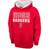 Boys 8-20 Campus Heritage Wisconsin Badgers Team Color Hoodie