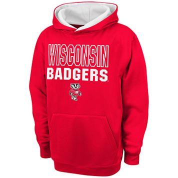 Boys 8-20 Campus Heritage Wisconsin Badgers Team Color Hoodie