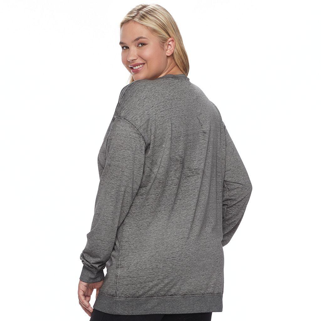 Juniors' Plus Size Her Universe Star Wars Logo Graphic Tunic Sweatshirt