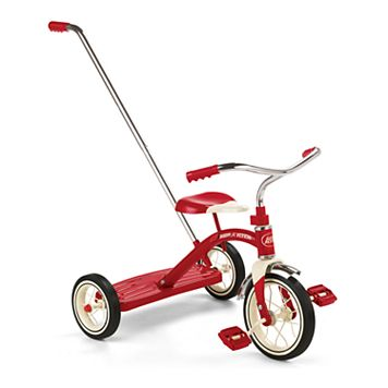 Radio Flyer Classic Red Tricycle with Push Handle