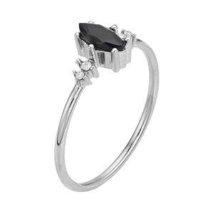 LC Lauren Conrad Black Marquise Ring