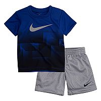 Baby Boy Nike Ombre Graphic Tee & Mesh Shorts Set
