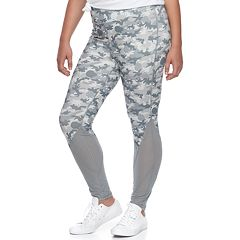 Juniors' Plus Size Her Universe Star Wars Mesh Camo Yoga Leggings