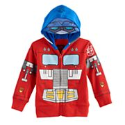 Toddler Boy Transformers Mask Zip Hoodie