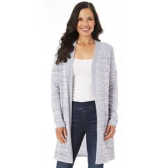 Women's Apt. 9® Marled Long Cardigan Sweater