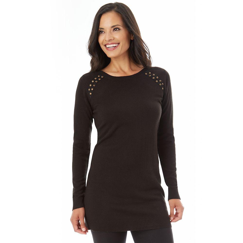 Apt. 9® Embellished Tunic Sweater