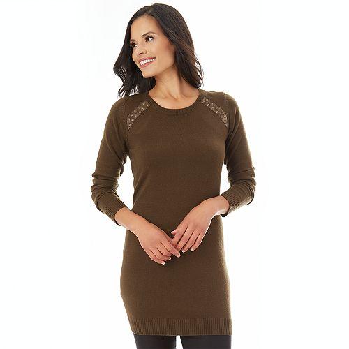 Women's Apt. 9® Embellished Tunic Sweater