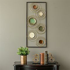 Stratton Home Decor Abstract Circles Panel Wall Decor