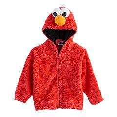 Toddler Boy Sesame Street Elmo Fuzzy Zip Hoodie