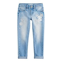 Girls 4-12 SONOMA Goods for Life™ Embroidered Denim Jeans