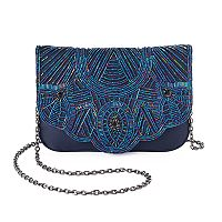 Lenore by La Regale Art Deco Beaded Flap Envelope Clutch