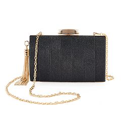 Lenore by La Regale Sparkle Pleated Jacquard Minaudiere