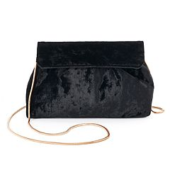 Lenore by La Regale Velvet Pouch Crossbody Bag