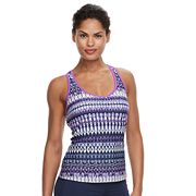 Women's ZeroXposur Printed Ladder-Back Tankini Top