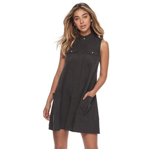 Women's Sharagano 4-Pocket Trapeze Dress