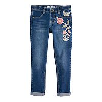 Girls 4-12 SONOMA Goods for Life™ Floral Embroidered Jeggings