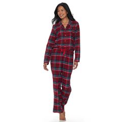 Women's Croft & Barrow® Pajamas: Flannel Top & Pants 2-Piece PJ Set