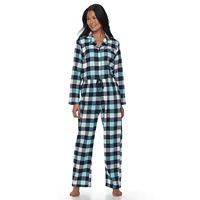 Petite Croft & Barrow® Pajamas: Flannel Top & Pants 2 pc PJ Set