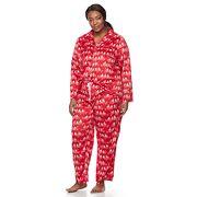 Plus Size Croft & Barrow® Pajamas: Fleece Top & Pants 2 pc PJ Set